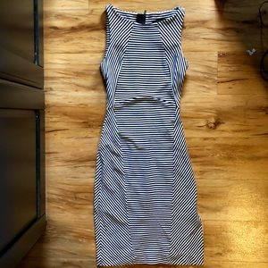 Banana Republic Midi Striped Sheath Dress Size 0P